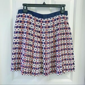 J. Crew Silk Pleated Skirt Size 2